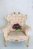Mooi het huwelijksboeket van huwelijkstoebehoren van tulpen en pion Stock Afbeelding