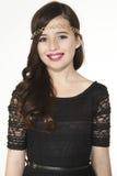 Mooi het Portret Hoofdschot van het Tienermeisje Royalty-vrije Stock Fotografie