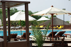 Mooi hotel op het strand jordanië Stock Foto's