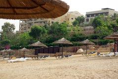 Mooi hotel op het strand jordanië Stock Fotografie