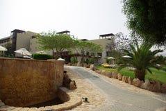 Mooi hotel op het strand jordanië Stock Afbeeldingen