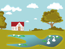 Mooi huis Stock Illustratie