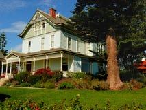 Mooi huis en frontyard Stock Afbeelding