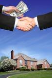 Mooi huis en geld Stock Fotografie