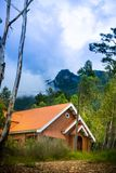 Mooi huis in het bos royalty-vrije stock fotografie
