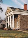 Mooi huis met verticale pijlers, Royalty-vrije Stock Afbeelding