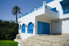 Mooi huis van Sidi Bovengenoemde Bou Royalty-vrije Stock Foto's