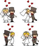 Mooi huwelijk de bruid en de bruidegom stock illustratie
