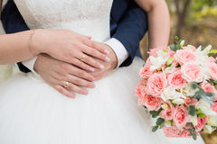 Mooi huwelijksboeket royalty-vrije stock afbeelding