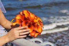 Mooi huwelijksboeket van de bruid Royalty-vrije Stock Afbeelding