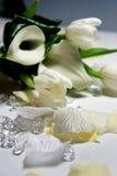 Mooi huwelijksboeket van witte callas en tulpen Royalty-vrije Stock Afbeeldingen