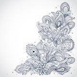 Mooi Indisch bloemenornament Royalty-vrije Stock Afbeeldingen