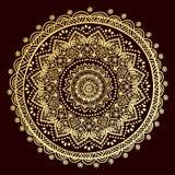 Mooi Indisch bloemenornament Royalty-vrije Stock Afbeelding
