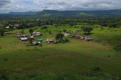 Mooi Indisch dorp satara-I Royalty-vrije Stock Foto's