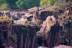 Mooi Indisch landschap in Gharial-Heiligdom Royalty-vrije Stock Fotografie