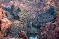 Mooi Indisch landschap in Gharial-Heiligdom Royalty-vrije Stock Afbeelding