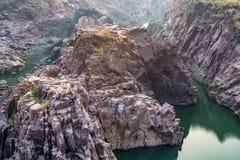 Mooi Indisch landschap in Gharial-Heiligdom Stock Fotografie