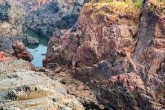 Mooi Indisch landschap in Gharial-Heiligdom Royalty-vrije Stock Foto