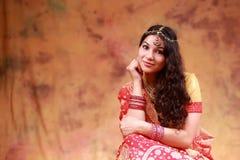 Mooi Indisch Meisje Stock Afbeelding