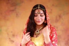 Mooi Indisch Meisje Royalty-vrije Stock Fotografie
