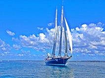 Mooi jacht Royalty-vrije Stock Foto's