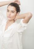 Mooi jong Kaukasisch vrouwenportret Royalty-vrije Stock Foto