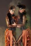 Mooi jong meisje in het masker Royalty-vrije Stock Afbeelding