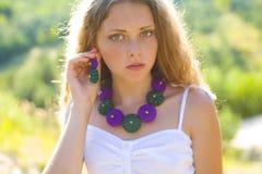 Mooi jong meisje van zestien Stock Afbeelding