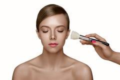 Mooi jong model Schoonheidsmeisje met perfecte schone witte Huid royalty-vrije stock foto