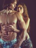Mooi jong paar in liefde Royalty-vrije Stock Foto's