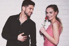 Mooi jong paar in liefde royalty-vrije stock foto