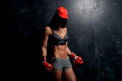 Mooi jong sportief meisje in studio stock fotografie