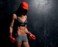 Mooi jong sportief meisje in studio royalty-vrije stock fotografie