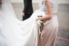 Mooi jong vrij elegant huwelijksbruidsmeisje Royalty-vrije Stock Afbeeldingen