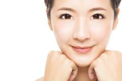 mooi jong Vrouwengezicht Stock Afbeelding