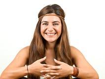 Mooi jong vrouwenportret Stock Foto's
