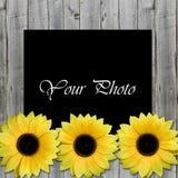Mooi kader voor foto met zonnebloemen Royalty-vrije Stock Fotografie