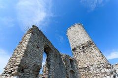 Mooi kasteel in Ogrodzieniec dichtbij Krakau in de lente, Polen Royalty-vrije Stock Foto's