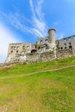 Mooi kasteel in Ogrodzieniec dichtbij Krakau in de lente, Polen Stock Afbeelding