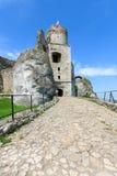 Mooi kasteel in Ogrodzieniec dichtbij Krakau in de lente, Polen Royalty-vrije Stock Afbeelding