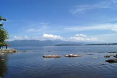 Mooi Kerinci-Meer in Kerinci Sungai Penuh Jambi - Indonesië Royalty-vrije Stock Afbeeldingen