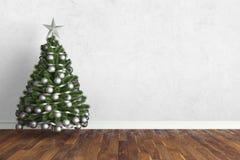 Mooi Kerstmisbinnenland het 3d teruggeven Stock Fotografie