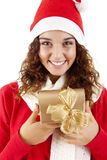 Mooi Kerstmismeisje Royalty-vrije Stock Foto's