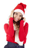 Mooi Kerstmismeisje Stock Afbeeldingen