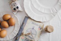 Mooi keukendecor voor de lijst Royalty-vrije Stock Fotografie
