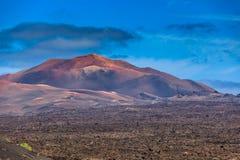 Mooi kleurend spel bij één van vele vulkanen Stock Afbeelding