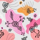 Mooi kleurrijk abstract naadloos patroon Achtergrond, textuur, textiel, stof stock illustratie