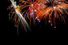 Mooi kleurrijk vuurwerk Royalty-vrije Stock Fotografie