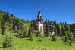 Mooi koninklijk Peles-kasteel, Sinaia, Roemenië Royalty-vrije Stock Afbeelding