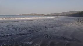 Mooi Konkan-strand stock footage
